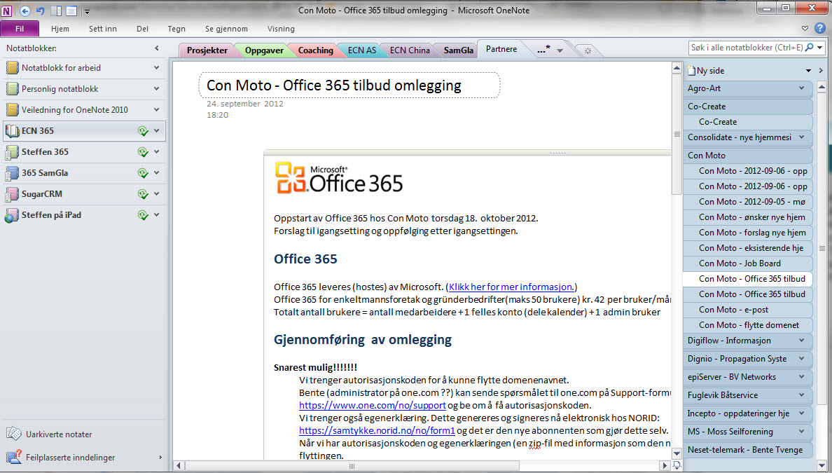 Office365startOneNote
